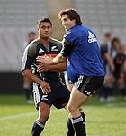 Isaia Toeava and Conrad Smith. All Blacks training. 19 July 2007