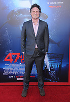 "12 June 2017 - Westwood, California - Johannes Roberts. ""47 Meters Down"" Los Angeles Premiere held at Regency Village Theatre in Westwood. Photo Credit: Birdie Thompson/AdMedia"