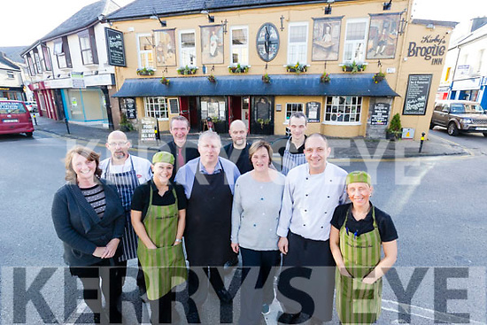 Staff at the Brogue Inn, Tralee, from left: Breda O'Grady, Emmett Rumgay, Amel Bentoumi, Vinnie Murphy, Kevin Cotter, Sebastian Sliwka, Fiona Kirby, Edger Lipskis and Lukasz Rusek and Noreen O'Mahony.