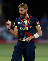 Ivan Thomas prepares to bowl for Kent during the Vitality Blast T20 game between Kent Spitfires and Essex Eagles at the St Lawrence Ground, Canterbury, on Thu Aug 2, 2018