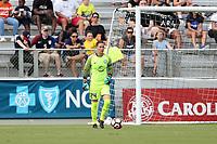 Cary, North Carolina  - Saturday April 29, 2017: Ashlyn Harris during a regular season National Women's Soccer League (NWSL) match between the North Carolina Courage and the Orlando Pride at Sahlen's Stadium at WakeMed Soccer Park.