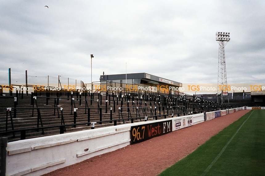 Terracing at Ayr United FC Football Ground, Somerset Park, Tryfield Place, Ayr, Scotland, pictured on 27th July 1999