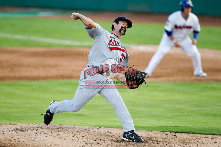 Matt Shoemaker (33) of the Arkansas Travelers delivers a pitch during a game against the South All-Stars 2011 in the Texas League All-Star game at Nelson Wolff Stadium on June 29, 2011 in San Antonio, Texas. (David Welker / Four Seam Images)