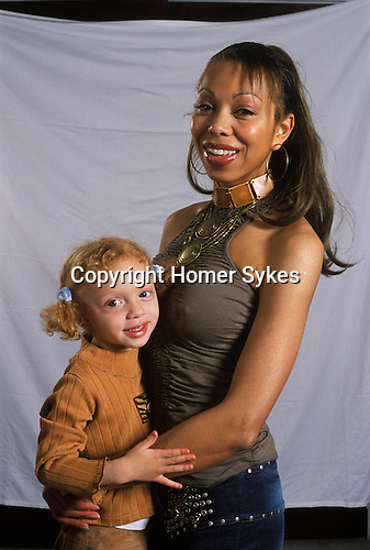 Angela and Anna ( 3yrs old ) Ermakowa. London, England. Love child of Boris Becker. 2003