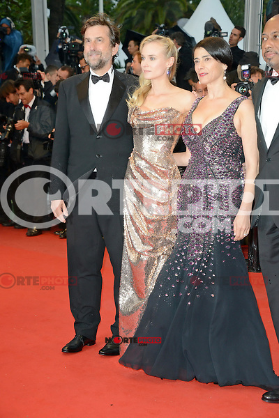 """Nanni Moretti, Diane Kruger and Hiam Abbass and  attending the """"Amour"""" Premiere during the 65th annual International Cannes Film Festival in Cannes, France, 20th May 2012..Credit: Timm/face to face /MediaPunch Inc. ***FOR USA ONLY***"""