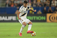 CARSON, CA - SEPTEMBER 15: Diego Polenta #3 of the Los Angeles Galaxy moves with the ball during a game between Sporting Kansas City and Los Angeles Galaxy at Dignity Health Sports Complex on September 15, 2019 in Carson, California.