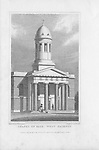 Chapel of Ease, West Hackney, engraving from 'Metropolitan Improvements, or London in the Nineteenth Century' London, England, UK 1828