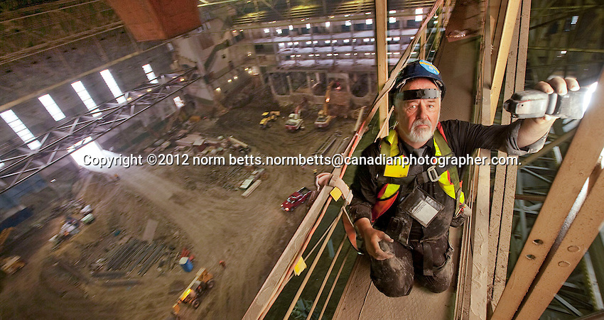 .RYERSON UNIVERSITY'S TRANSFORMATION OF MAPLE LEAF GARDENS INTO THE COOLEST HOCKEY RINK, EVER!.Toronto, Ontario, Canada..photo: Norm Betts.416 460 8743.©2012 Norm Betts, Photographer.com.