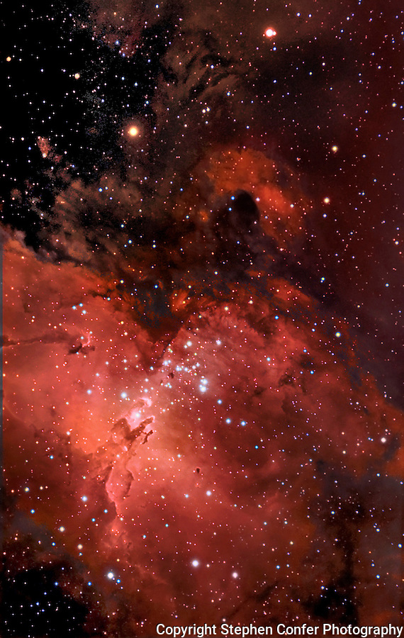 m16, messier 16, eagle nebula, pillars of creation