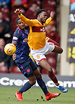 17.02.2019: Motherwell v Hearts: Arnaud Djoum and Gboly Ariyibi