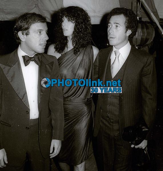 SteveRubell Cher David Geffen at #Studio54 1978<br /> Photo By Adam Scull/PHOTOlink.net