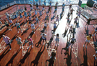 Exercise class on the cruise ship SS Song of America, Atlantic ocean, 05-1015, Ship, Royal Caribbean Cruise Line. Caribbean Sea.