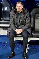 Atletico de Madrid's coach Diego Simeone during La Liga Match. December 01, 2012. (ALTERPHOTOS/Alvaro Hernandez)