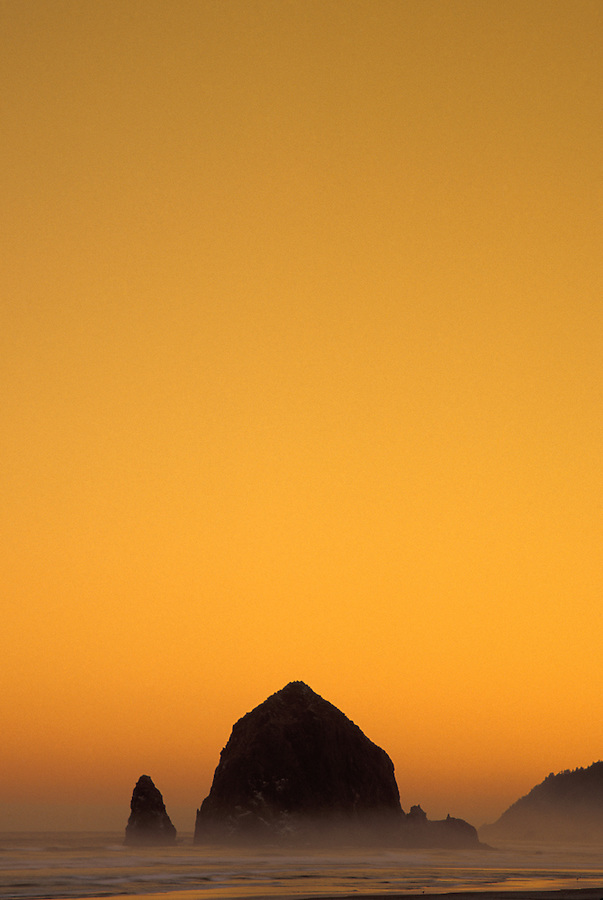 Haystack Rock at sunrise, Cannon Beach, Oregon