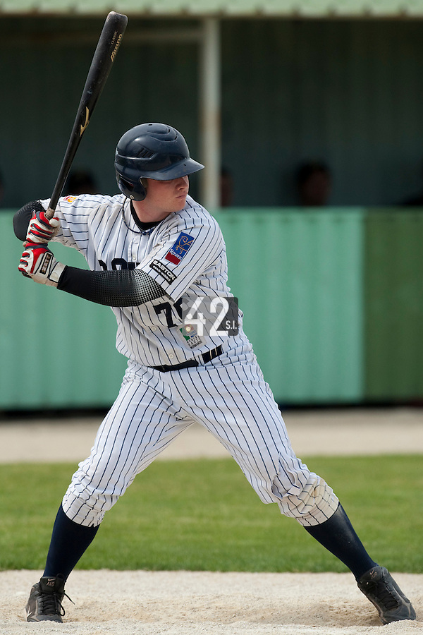 21 May 2009: David Gauthier of Rouen is seen at bat during the 2009 challenge de France, a tournament with the best French baseball teams - all eight elite league clubs - to determine a spot in the European Cup next year, at Montpellier, France.
