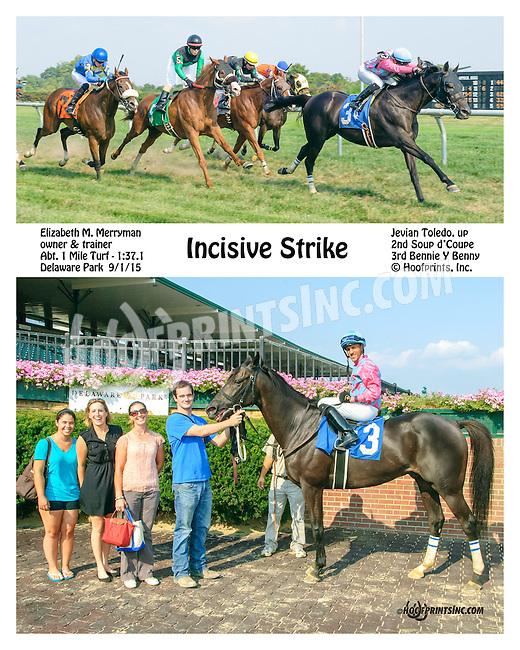 Incisive Strike winning at Delaware Park on 9/1/15