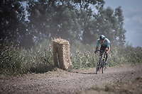 Beat Cycling Club rider conquering the gravel and dust<br /> <br /> Antwerp Port Epic 2019 <br /> One Day Race: Antwerp > Antwerp 187km<br /> <br /> ©kramon