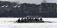 2005 Varsity Boat Race - Pre race fixtures - Putney, London., ENGLAND; left to right,  stroke. Josh Inman, 7. Gijs Vermeulen, 6. Sjoerd Hamburger, 5. Mark Flickinger, 4. Matt Hughes, 3. Paul Daniels, 2. Gabe Winkler, bow, Julien Romcolthoff..Photo  Peter Spurrier. .email images@intersport-images...[Mandatory Credit Peter Spurrier/ Intersport Images] Varsity:Boat Race Rowing Course: River Thames, Championship course, Putney to Mortlake 4.25 Miles