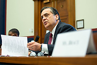 George Washington University Law School professor Jonathan Turley makes an opening statement during a House Natural Resources Committee hearing on Monday, June 29, 2020 to discuss the recent incident with U.S. Park Police removing protesters and journalists on June 1st at St. John's Episcopal Church near the White House for President Trump to conduct a photo op.<br /> Credit: Bonnie Cash / Pool via CNP / MediaPunch
