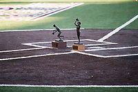 Super Bulldog Weekend: Baseball vs Arkansas at Dudy Noble Field.  Basketball trophies at home plate.<br />  (photo by Megan Bean / &copy; Mississippi State University)
