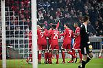 20.02.2018, Allianz Arena, München, GER, UEFA CL, FC Bayern München (GER) vs Besiktas Istanbul (TR) , im Bild<br />Thomas Müller (München) freut sich über das Tor zum 3:0<br /><br /><br /> Foto © nordphoto / Bratic