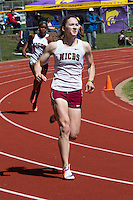 MICDS senior Margaret Sliney runs to victory in the 400 meters in 57.34 at the 2016 MSHSAA Class 4 District 3 Track and Field Meet at Ladue High School, St. Louis, Saturday, May 14.
