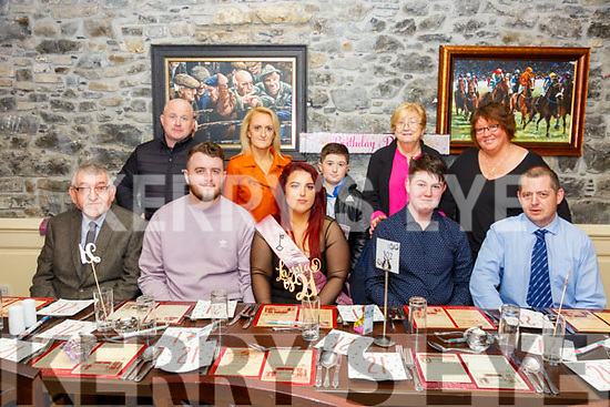 21st Birthday : Layna Spillane, Tarbert celebrating her 21st birthday with family & friends at Behan's Horseshoe Bar & Restaurant, Listowel on Saturday night last.