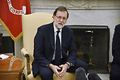 Prime Minister Mariano Rajoy of Spain speaks in the Oval Office of the White House during a meeting with United States President Donald J. Trump September 26, 2017 in Washington, DC. <br /> Credit: Olivier Douliery / Pool via CNP