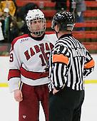 Alex Killorn (Harvard - 19), Chip McDonald - The Princeton University Tigers defeated the Harvard University Crimson 2-1 on Friday, January 29, 2010, at Bright Hockey Center in Cambridge, Massachusetts.