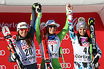 Audi FIS Ski World Cup Ladies Super-G at in Cortina d'Ampezzo, on January 29, 2017. Slovenia's Ilka Stuhec wins ahead of Italy's Sofia Goggia, Anna Veith from Austria is third.