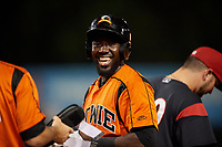 Bowie Baysox Cedric Mullins (2) during an Eastern League game against the Richmond Flying Squirrels on August 15, 2019 at Prince George's Stadium in Bowie, Maryland.  Bowie defeated Richmond 4-3.  (Mike Janes/Four Seam Images)