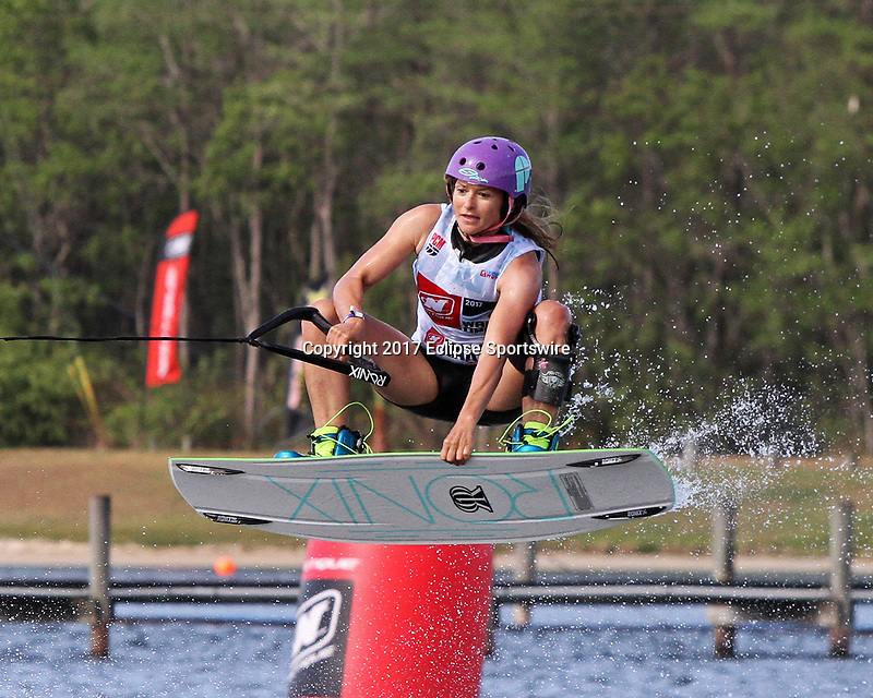 ORLANDO, FL - April 29:  Sigi Baechler GER wins the Master's Women Division at the WWA Nautique Wake Open 2017 at  the Orlando Watersports Complex on April 29, 2017 in Orlando, Florida. (Photo by Liz Lamont/Eclipse Sportswire/Getty Images)