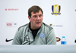 FK Trakai v St Johnstone&hellip;05.07.17&hellip; Europa League 1st Qualifying Round 2nd Leg<br />St Johnstone Manager Tommy Wright pictured during a press conference this evening in Vilnius<br />Picture by Graeme Hart.<br />Copyright Perthshire Picture Agency<br />Tel: 01738 623350  Mobile: 07990 594431