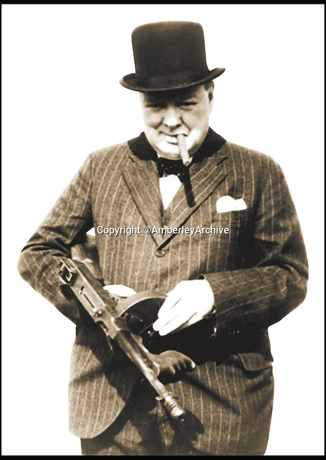 BNPS.co.uk (01202 558833)<br /> Pic: AmberleyArchive/BNPS<br /> <br /> Winston Churchill, who created the Home Guard, weilding a Thompson machine gun.<br /> <br /> A new book about the overzealous, trigger-happy capers of the Home Guard reveals just how close to reality the much-loved TV sitcom Dad's Army really was.<br /> <br /> Author Norman Longmate has compiled some of the most farcical tales of life in the wartime volunteer service, including a hedgehog mistaken for a paratrooper and a private who melted his boots.<br /> <br /> The book, The Real Dad's Army, is being published as the popular comedy series gets a big screen reboot with star names including Bill Nighy, Catherine Zeta-Jones and Michael Gambon.