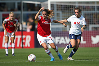 Danielle van de Donk of Arsenal and Coral-Jade Haines of Tottenham during Arsenal Women vs Tottenham Hotspur Women, Friendly Match Football at Meadow Park on 25th August 2019