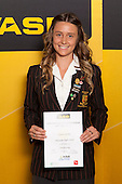 Girls Orienteering winner Cosette Saville from Pukekohe High School. ASB College Sport Young Sportsperson of the Year Awards held at Eden Park, Auckland, on November 24th 2011.