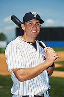 Staten Island Yankees third baseman Eric Jagielo poses for a photo before a game against the Connecticut Tigers on July 7, 2013 at Richmond County Bank Ballpark in Staten Island, New York.  Staten Island defeated Connecticut 6-2.  (Mike Janes/Four Seam Images)