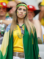A dejected Brazil fan