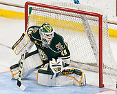 Stefanos Lekkas (UVM - 40) - The Boston College Eagles defeated the University of Vermont Catamounts 7-4 on Saturday, March 11, 2017, at Kelley Rink to sweep their Hockey East quarterfinal series.The Boston College Eagles defeated the University of Vermont Catamounts 7-4 on Saturday, March 11, 2017, at Kelley Rink to sweep their Hockey East quarterfinal series.