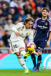 Luka Modric of Real Madrid in action  during the La Liga 2018-19 match between Real Madrid and Real Valladolid at Estadio Santiago Bernabeu on November 03 2018 in Madrid, Spain. Photo by Diego Souto / Power Sport Images