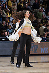 A member of the Wake Forest Demon Deacons dance team entertains the crowd during a first half timeout in the game against the North Carolina Tar Heels at the LJVM Coliseum on January 21, 2015 in Winston-Salem, North Carolina.  The Tar Heels defeated the Demon Deacons 87-71.  (Brian Westerholt/Sports On Film)