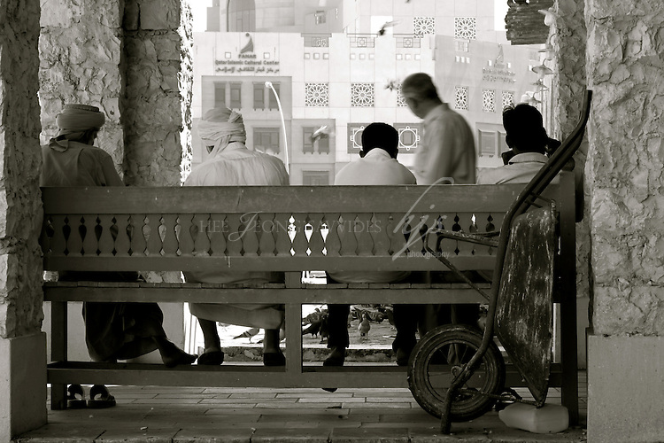 Local Stall holders taking a break, Souq Waqif, Doha, Qatar | Mar 10