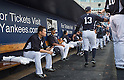 Masahiro Tanaka (Yankees),<br /> MARCH 12, 2015 - MLB :<br /> Masahiro Tanaka of the New York Yankees sits in the dugout during a spring training baseball game against the Atlanta Braves at George M. Steinbrenner Field in Tampa, Florida, United States. (Photo by Thomas Anderson/AFLO) (JAPANESE NEWSPAPER OUT)