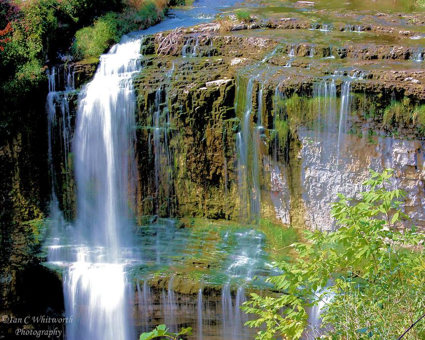 Spencer Creek falls over the Niagara Escarpment in Dundas Ontario Canada