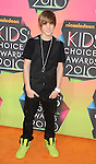 LOS ANGELES, CA. - March 27: Justin Bieber arrives at Nickelodeon's 23rd Annual Kid's Choice Awards at Pauley Pavilion on March 27, 2010 in Los Angeles, California.