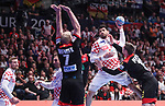 18.01.2020., Austria, Vienna, Wiener Stadthalle - European Handball Championship, Group I, Round 2, Croatia - Germany. Luka Stepancic, Hendrik Pekeler.  <br /> <br /> Foto © nordphoto / Luka Stanzl/PIXSELL