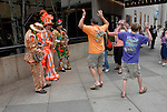 Mummers entertainers and dancers..Philadelphia, Pennsylvania, PA USA.  Photo copyright Lee Foster, 510-549-2202, lee@fostertravel.com, www.fostertravel.com. Photo 303-30867
