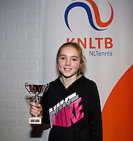 November 30, 2014, Almere, Tennis, Winter Youth Circuit, WJC,  Prizegiving,  Sanne Schalekamp 5th place<br /> Photo: Henk Koster