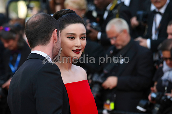 "24 May 2017 - Cannes, France - Fan Bingbing, Melvil Poupaud . ""The Beguiled"" Premiere during the 70th Cannes Film Festival. Photo Credit: GeorgWenzel/face to face/AdMedia"