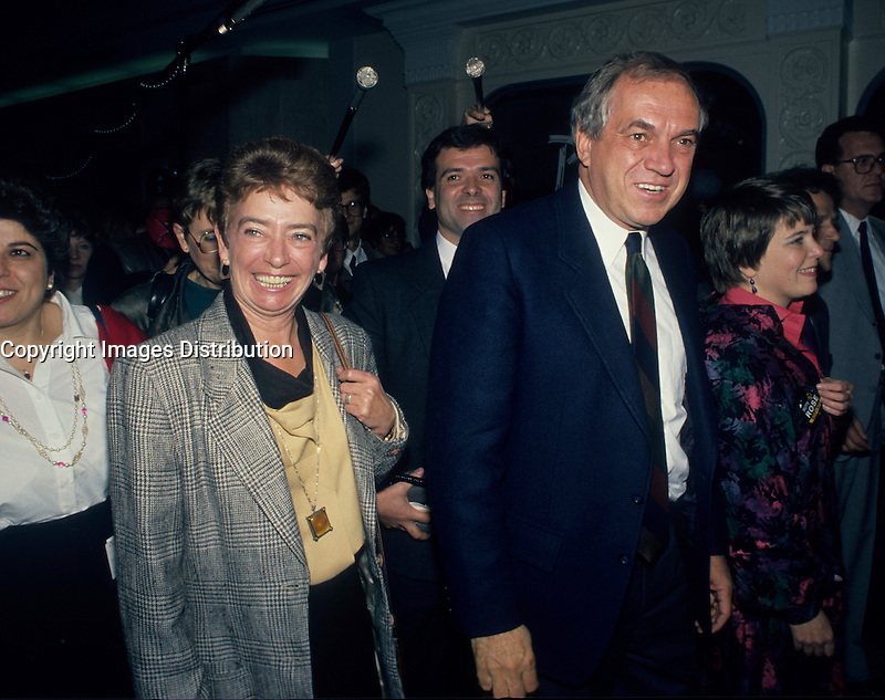 Montreal (Qc) Canada  file Photo - 1988 -- Ed Broadbent, New Democratic Party  (NPD) Leader and his wife Lucille